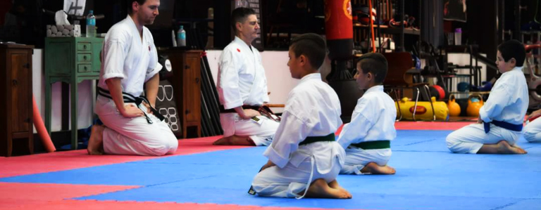 Green and blue belt students