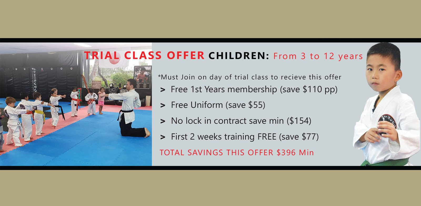Trial Class Special Offer CHILDREN _ Offer Ends January 31 2021