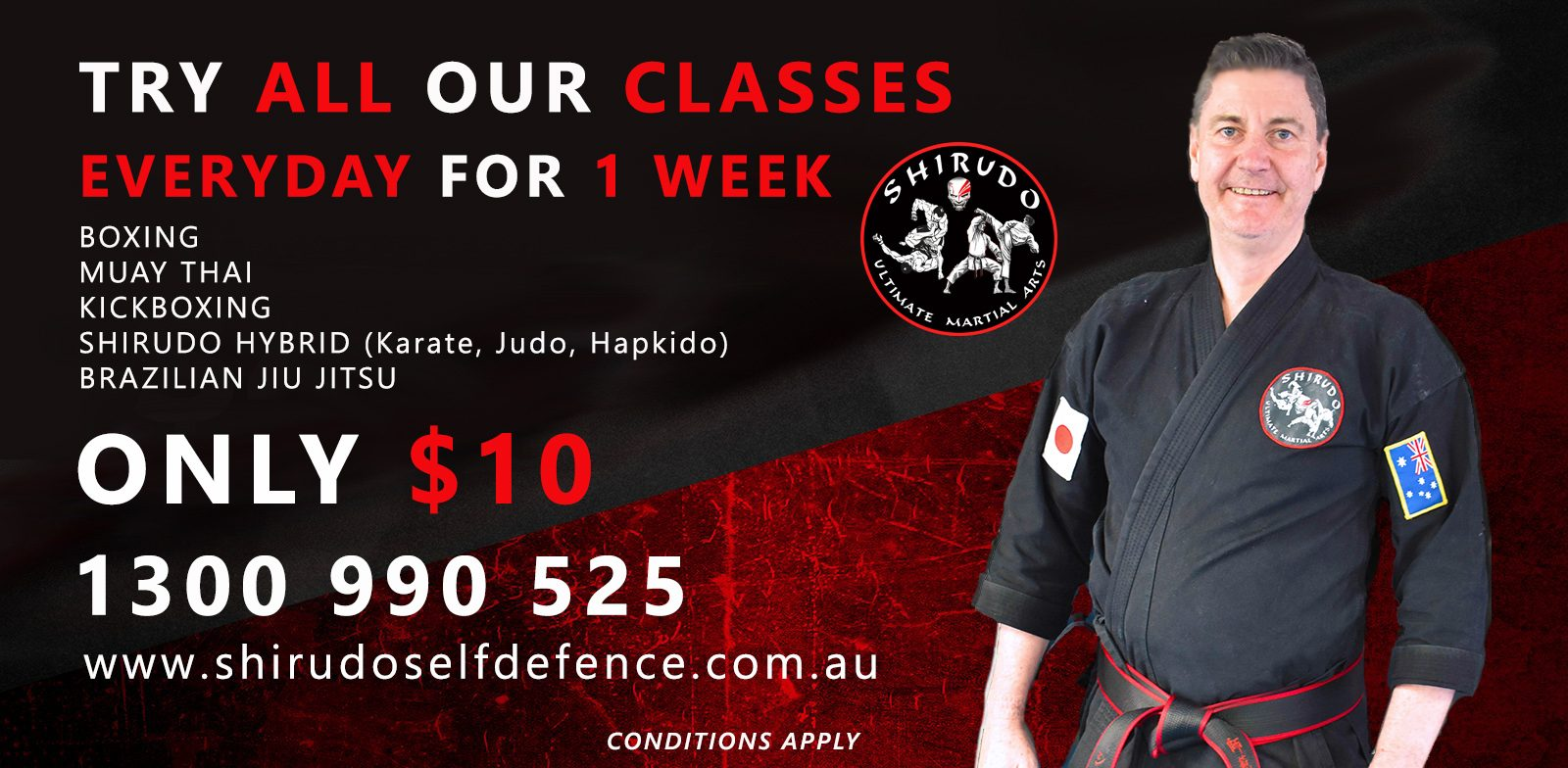 $10 for all classes for 1 week